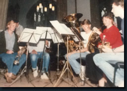 Early days, 1987, Wells Cathedral, Alexander Brass Quintet and percussion