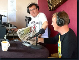 With my co host, great mate and demon oboe colleague Tim Roberts, presenting 'Classic Notes' on www.bakgatradio.co.za